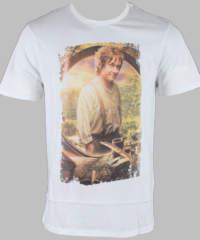 Pánské tričko  Hobit – Bilbo – White – HOBTS-1201-BLANCL