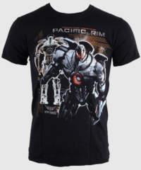 Pánské tričko  Pacific Rim – Robot – Black – LIVE NATION – 10529