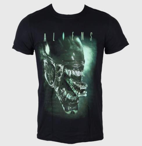 Pánské tričko  Aliens (Vetřelec) – Alien Head – LIVE NATION –  Black – P ...