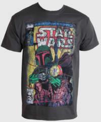 Pánské tričko  STAR WARS – Boba Blast Fotl – Charcoal – LIVE NATION – PE ...