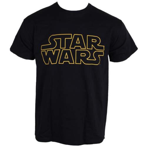 Pánské tričko  Star Wars – Logo Outline Fotl – LIVE NATION – PE12166TSB