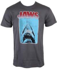 Pánské tričko  Jaws – Poster – Charcoal – INDIEGO – Indie0121