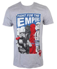 Pánské tričko  Star Wars – Fight For The Empire – Charcoal – INDIEGO – I ...