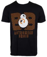 Pánské tričko  Star Wars – Star Wars VII – BB8 – Black – INDIEGO – ...