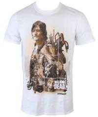 Pánské tričko  The Walking Dead – Daryl Montage – White – INDIEGO – Indi ...