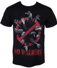 Pánské tričko  The Walking Dead – No Walkers – Black – INDIEGO – Indie0200
