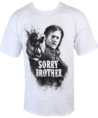 Pánské tričko  The Walking Dead – Sorry Brother – White – INDIEGO – Indi ...