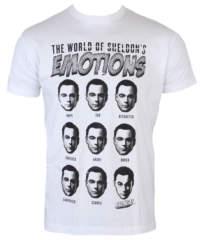 Pánské tričko  Teorie Velkého Třesku – Sheldons Emotions – White – HYBRIS -WB- ...