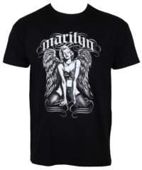 Pánské tričko  Marilyn Monroe – Cool Angel – Black – HYBRIS – WS-5-15032 ...