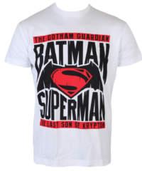 Pánské tričko  Batman vs. Superman – White – HYBRIS – WB-1-BATUP009-H61-8