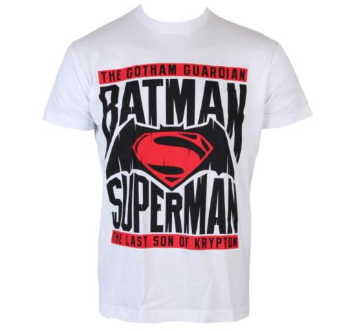 Pánské tričko Batman vs. Superman - White - HYBRIS - WB-1-BATUP009 ... d55c839f5a