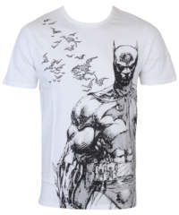 Pánské tričko  Batman – Bat Fly – White – LEGEND – HBATS1246