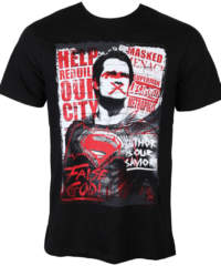 Pánské tričko  Batman vs. Superman – Superman Anti-Hero – Black – LEGEND ̵ ...