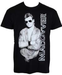 Pánské tričko  Cool MacGyver – Black – HYBRIS – CBS-1-MG002-H59-13-BK