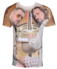 Pánské tričko  Big Lebowski – Allover – HYBRIS – UV-1-TBL011-SUB