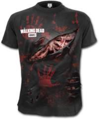 Pánské tričko  SPIRAL – ZOMBIE – ALL INFECTED – Walking Dead Ripped – Bl ...