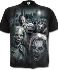 Pánské tričko  SPIRAL – ZOMBIE HORDE – Walking Dead – Black – G005M127
