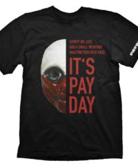 Tričko PayDay 2  – Wolf Mask