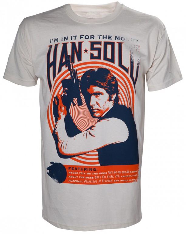 Filmové tričko Star Wars  – Han Solo Vintage