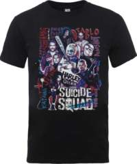 Filmové tričko Suicide Squad  – Harley's Character Collage