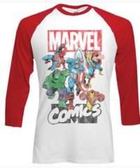Tričko Marvel Montage, s dlouhými rukávy