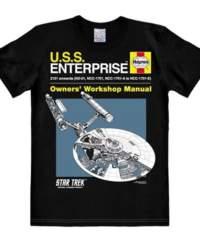 Tričko Star Trek – USS Enterprise, černé