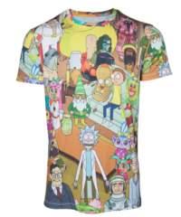 Filmové tričko Rick and Morty  – Allover Print