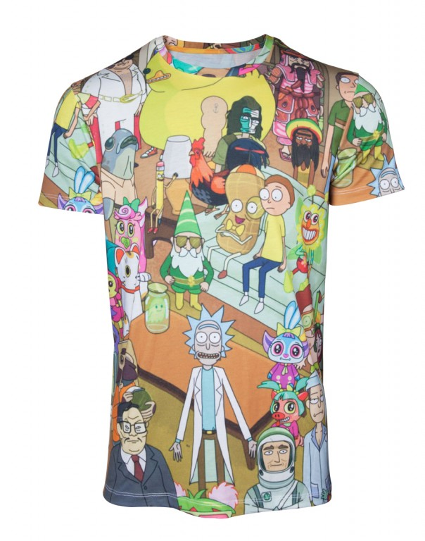 Filmové tričko Rick and Morty  – Allover Print