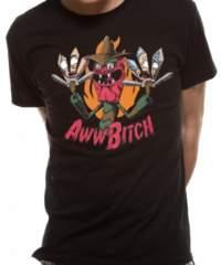 Filmové tričko Rick And Morty  – Awwww Bitch