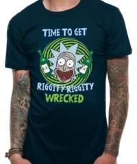 Filmové tričko Rick And Morty  – Riggity Riggity Wrecked