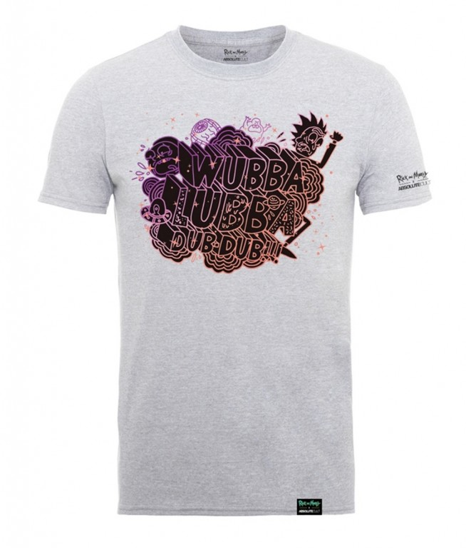 Filmové tričko Rick And Morty  Šedé – Wubba Lubba