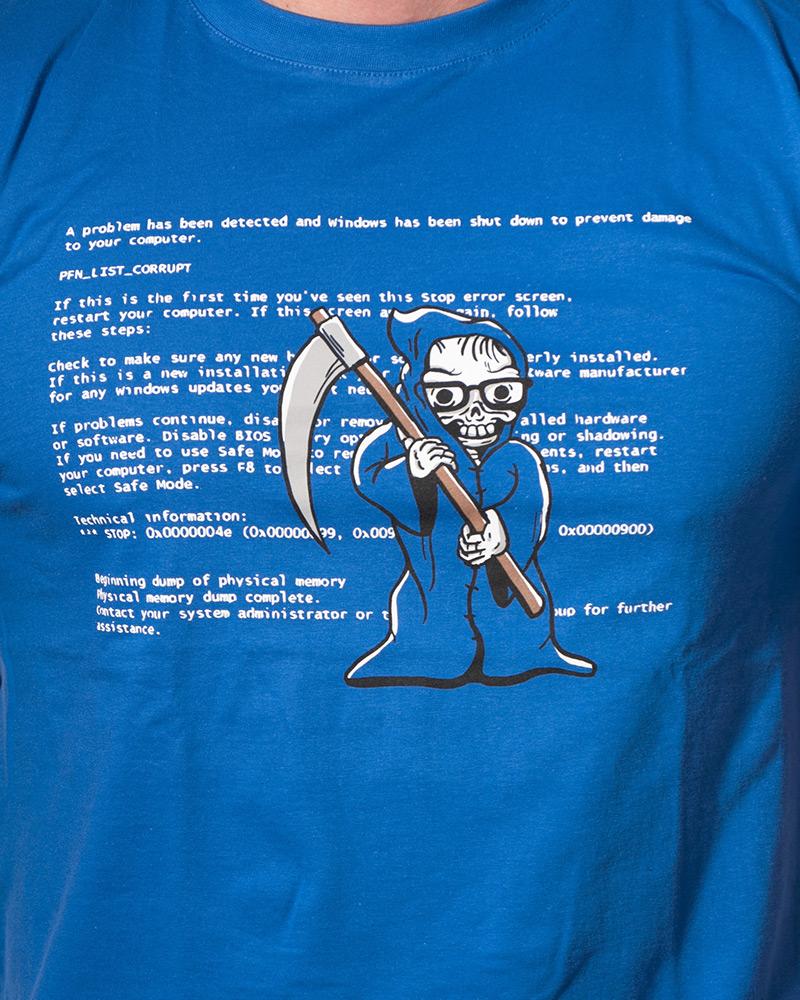 Pánské tričko Modrá smrt