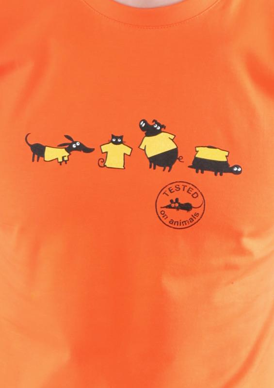 Pánské tričko Testováno na zvířatech