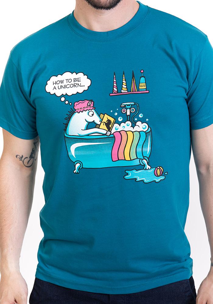 Pánské tričko Jak se stát jednorožcem