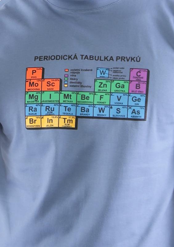 Pánské tričko Periodická tabulka