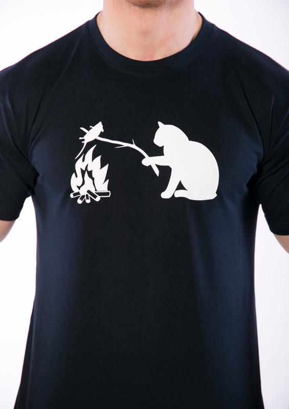 Pánské tričko Kočka a myš