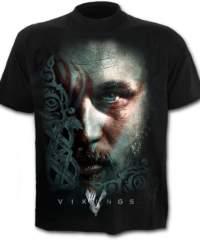 Pánské tričko  SPIRAL – RAGNAR FACE – Vikings – Black – G201M136