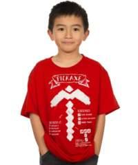 Dětské tričko Minecraft – Pickaxe Diagram