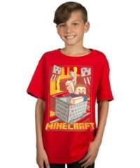 Dětske tričko Minecraft – Vintage Runaway Cart