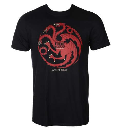 Pánské tričko PLASTIC HEAD Hra o trůny FIRE AND BLOOD černá