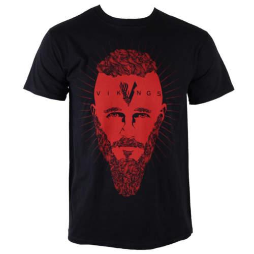 Pánské tričko PLASTIC HEAD Vikingové Ragnar Face černá