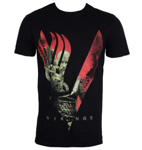 Pánské tričko PLASTIC HEAD Vikingové Blood Sky černá