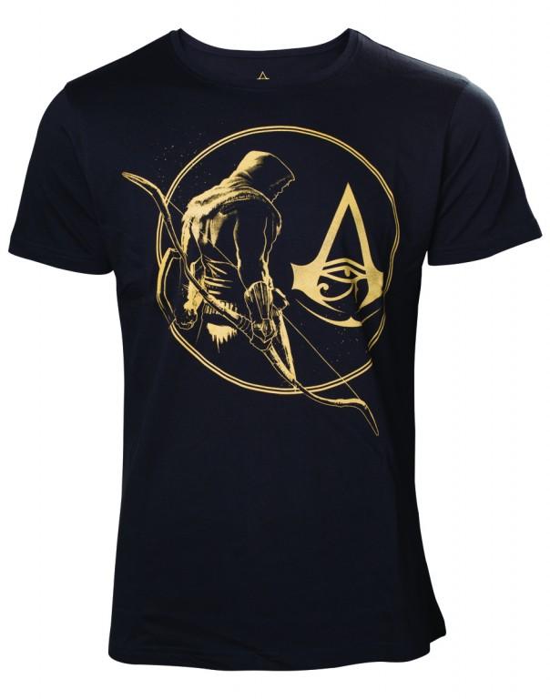 Tričko Assassins Creed Origins  – Golden Bayek and Crest Logo