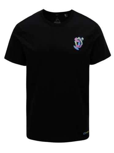 Černé pánské regular fit tričko s potiskem na zádech O'Neill Beach