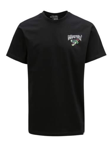 Černé pánské tričko s potiskem na zádech MEATFLY Dragon