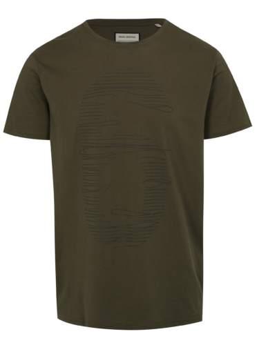 Khaki tričko s potiskem číslice Shine Original