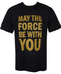 Pánské tričko LIVE NATION Star Wars FORCE černá
