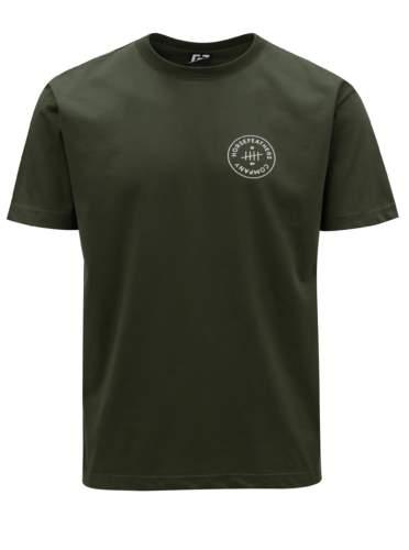 Tmavě zelené pánské tričko s potiskem Horsefeathers Five