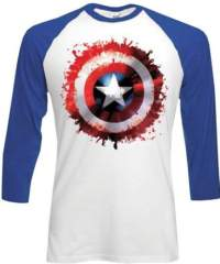 Tričko Captain America – dlouhý rukáv
