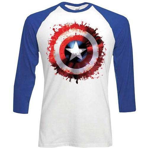 Tričko Captain America - dlouhý rukáv   ▻ PánskéTričko.cz ef1172fd45
